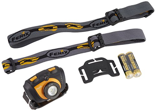 Fenix HL30 200 Lumen LED Headlamp with Four 2900mAh rechargeable Ni-MH AA batteries, Charger & Two EdisonBright AA Alkaline batteries ()