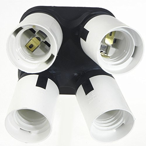 MagiDeal 4 in 1 Socket Adapter Converter, 1 to 4 E27 Base Lamp Holder Socket Splitter for Photo Studio, Work Shop, Garage Lighting by Unknown (Image #3)