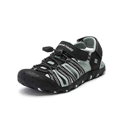 Black Boys Strap - DREAM PAIRS Boys Girls Toddler 171111-K Black Grey Outdoor Summer Sandals Size 8 M US Toddler