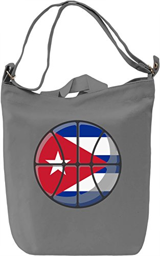 Cuba Basketball Borsa Giornaliera Canvas Canvas Day Bag| 100% Premium Cotton Canvas| DTG Printing|