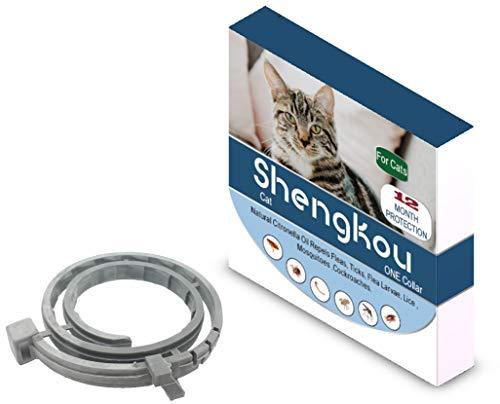 ShengKou Cat Collar Natural Essential Oil Repels Fleas and Ticks