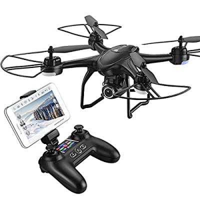 HOBBYTIGER H301S Ranger Drone with Camera Live Video and GPS Return Home 720P HD Wide-Angle WiFi Camera for Kids, Beginners and Adults - Follow Me, Altitude Hold, Long Control Range by HOBBYTIGER