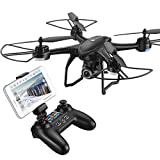 HOBBYTIGER H301S Ranger Drone with Camera Live Video and GPS Return Home 720P HD Wide-Angle Wifi Camera for Kids, Beginners and Adults – Follow Me, Altitude Hold, Long Control Range