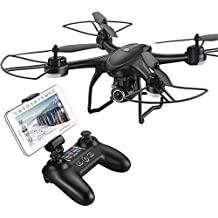 FPV RC Drone con cámara de vídeo en directo 720P HD 120° RTF WiFi Quadcopter para principiantes y niños RC helicóptero con altitud Hold Modo Headless, giros 3d