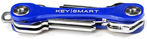 KeySmart Lite | Compact Key Holder and Keychain Organizer (2-8 Keys, Blue)