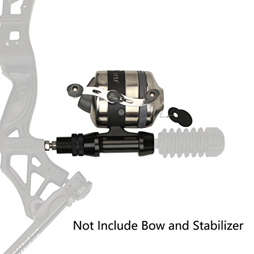 (SinoArt Bowfishing Reel Seat Spincast Reel With Fishing Reel Seat Gear Right and Left Hand for Recvrve Compound Bow (BL40))