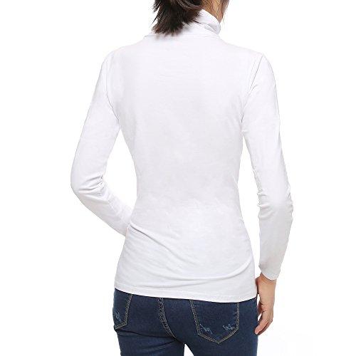 White Cotton Turtleneck - 6