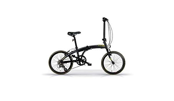 Bicicleta Plegable MBM Snap 20 Pulgadas Shimano Altus 7 Velocidad Negro: Amazon.es: Deportes y aire libre