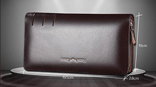 Mens Organizer 5 Full Leather Bag Clutch grain 5 H Black amp;w Wallet Zw5qnT07