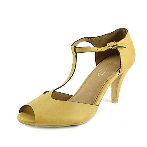 Kick Footwear - Womens Block Heeled Office Formal Work Dolly Strap Black Shoes Nude butOhXgfuz