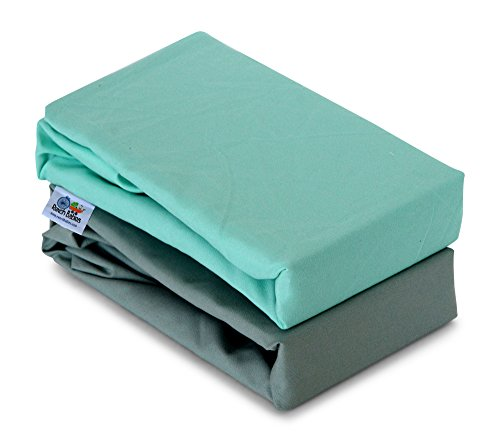 Green Changing Pad Cover - Rench Babies 2-Piece Changing Pad Cover Sheets in Nuetral Colors