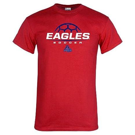 2b594280fecd3 Amazon.com: CollegeFanGear American University Red T Shirt 'Soccer ...