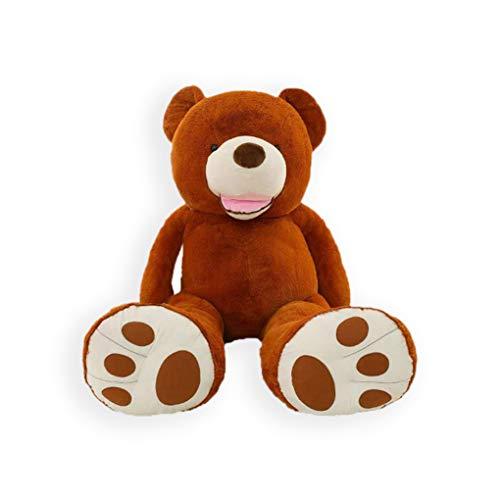 - LApapaye Giant Teddy Bears Stuffed Animal Teddy Bear with Footprints Big Toys Life Size Plush Toy for Girlfriend,Dark Brown 37 Inch