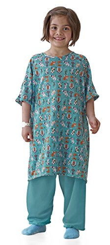 Pet Parade Pediatric I.v. Shoulder Snap Hospital Gowns (Medium, -