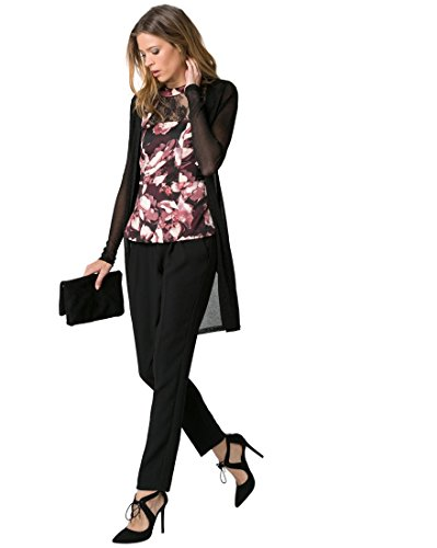 - LE CHÂTEAU Women's Metallic Knit Open-Front Cardigan,XS,Black