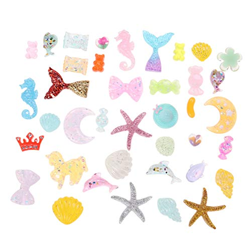 Supvox DIY Phone Shell Material Slime Beads for Craft Decoration 40Pcs (Mixed Style)