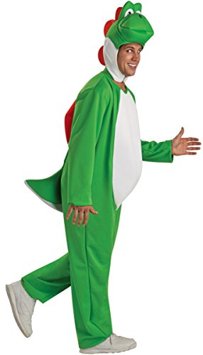 Adult Video Game Plumber Bros Dino Costume (Standard -