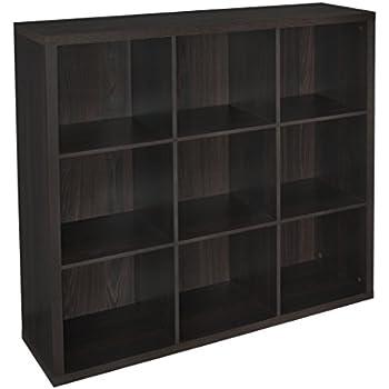 ClosetMaid 4110 Decorative Storage 9 Cube Organizer, Black Walnut