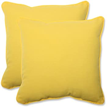 pillow perfect outdoor fresco yellow throw pillow 185inch set of 2