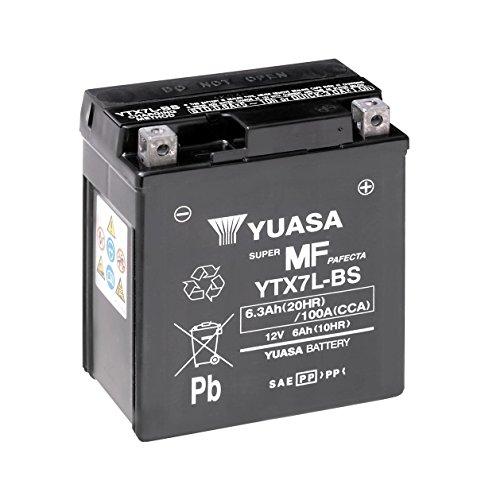Batteria YUASA YTX7L-BS, 12V/6ah (dimensioni: 114X 71X 131) per Suzuki VL125intruso LC anno di costruzione 2003