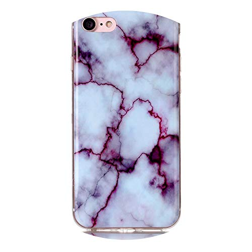 for iPod Touch 5 6 Marble Soft TPU Silicone Cover Case for iPhone Xs Max XR X 4 4S 5 5C 5S SE 6 6S 7 8 Plus Fundas Coque B02,Red,for iPod Touch 5 6 (Ipod 5 Cases 99 Cents)