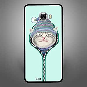 Samsung Galaxy C7 Cat Zipped