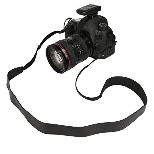 candyanglehome Genuine Leather Camera Neck Shoulder Sling Strap Vintage for DSLR / SLR / Nikon / Canon / Sony (3 Color choice), Black