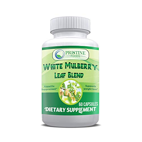 Pristine Foods White Mulberry Leaf Extract Complex 1000mg Plus Garcinia Cambogia, Green Coffee Bean, Cinnamon, African…