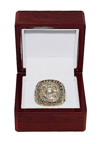 - CHICAGO BEARS (Walter Payton) 1985 SUPER BOWL XX WORLD CHAMPIONS (Team & Attitude) Rare & Collectible High-Quality Replica NFL Football Championship Ring with Cherrywood Display Box