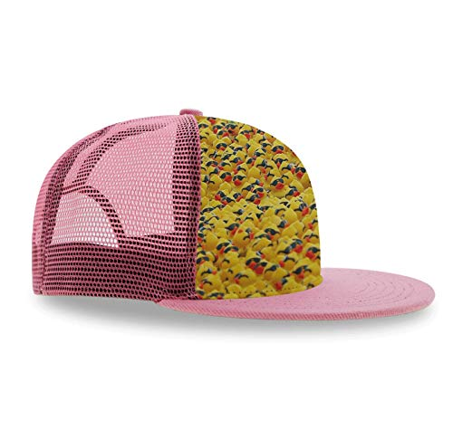 Premium Hat Adjustable Snapback Hats Boys Girls Hip-Hop Flat Bill Baseball Caps for Golf Tennis, (Rubber Ducky Sunglasses1)