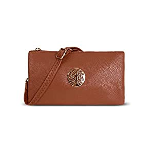 Craze London Women's Small Clutch Bag Cross Body Shoulder Bag with Wristlet Long Cross Shoulder Adjustable Strap