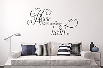 Wandtattoo Home Is Where Your Heart Is Nr 2 Mit Herzen Aus Selbstklebender  Wandfolie Vom Hersteller