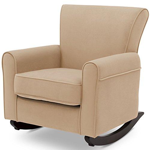 Delta Children Lancaster Rocking Chair Featuring Live Smart Fabric, Sisal