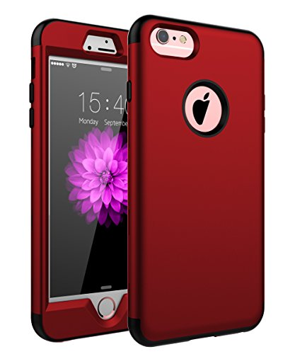 SKYLMW Case for iPhone 6 Plus, Case for iPhone 6s Plus, Three Layer Heavy Duty High Impact Resistant Hybrid Protective Cover Case for iPhone 6 Plus/6s Plus (Only for 5.5