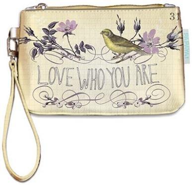 Papaya Art Love Who You Are Floral Wallet Wristlet by Papaya (Image #1)