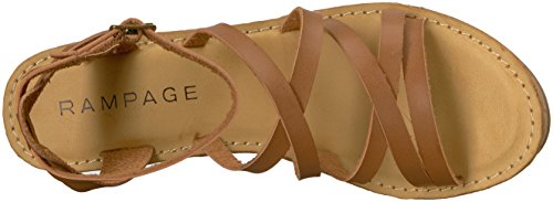 Rampage Women's Zaira Strappy Platform Cork Wedge Sandal Cognac Burnish tSsfl2U1