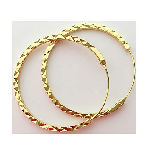 (Wicuas&associates 5 microns 24k Gold Plated Hoop Earrings Durable Durable Lifetime Thai Thailand Women Girls Shiny Cut)