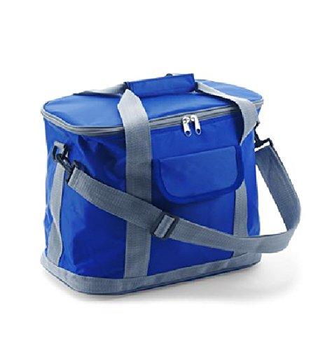 Kühltasche 'Morello' aus 420D Nylon mit Vortasche und abnehmbarem Schultergurt Kobaltblau Nylon, Farbe: Kobaltblau