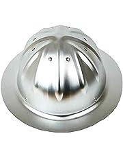 LANLANLife Helmen aluminium, grote hoeden Helm for outdoor bouwhelm met schaduw Zon Wide Brim (Color : Original aluminum)