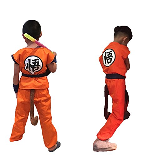UU-Style Unisex Adult and Child Halloween Costume Son Goku Suit Outfit Cosplay Costume Kids Halloween Kung Fu Outfit (165-180CM, Goku)]()