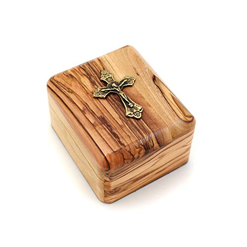 Olive Wood Gift Box with Crucifix