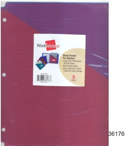 Pocket Files for 3 Ring Binders - 5 pack 144 pcs sku# 1301526MA