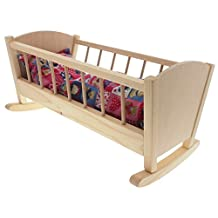 ABA Doll Cradle with Blanket and Cushion