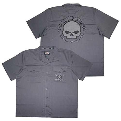 Harley Davidson Motorcycles Mens Button Down Short Sleeve...