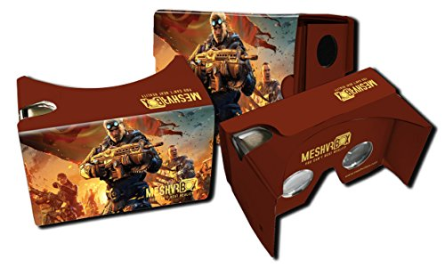 Mesh VR Box 2.0 + Free Headstrap. Inspired By Google Cardboard 2.0. Works with for Any Smartphone / Mobile (Android Samsung, Apple IOS Iphone). Pre assembled