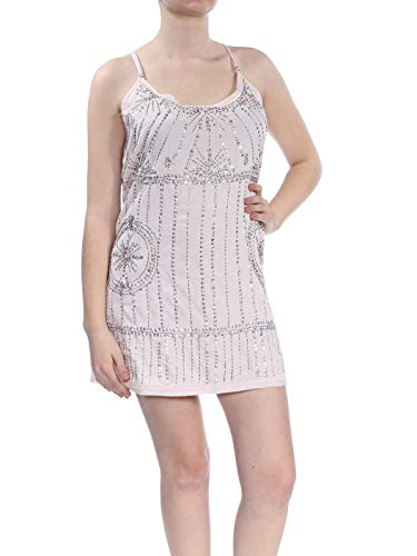 Free People Women's Sedona Embellished Shift Slipdress (Pink, Medium)