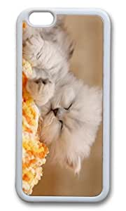 MOKSHOP Adorable Kitten Sleeping Soft Case Protective Shell Cell Phone Cover For Apple Iphone 6 Plus (5.5 Inch) - TPU White