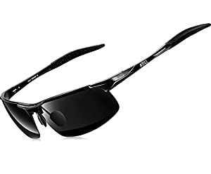 ATTCL Men's HOT Fashion Driving Polarized Sunglasses for Men Al-Mg Metal Frame Ultra Light