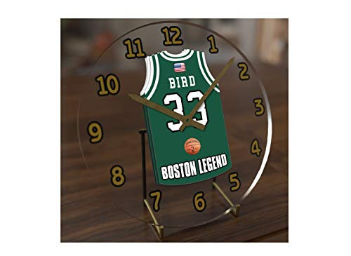 FanPlastic N B A Basketball Jersey Themed Clock - All Eastern Conference N B A Team Colours - Our Very OWN 'Let's GO' Range of Clocks !! (Let's Go Celtics Edition)
