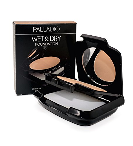 Palladio Dual Wet and Dry Foundation, Neroli Bronze, Apply Wet for Maximum, Full Coverage or Dry for Light Finishing and Touchups, Minimizes Fine Lines, Helps Prevent Breakouts, Includes Sponge